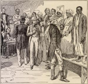 Slave auction in New Orleans